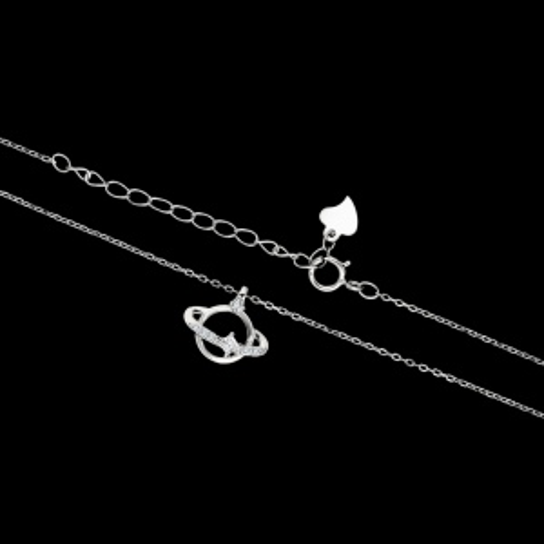 Srebrny naszyjnik z cyrkoniami pr.925