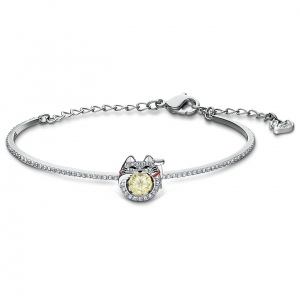 Bransoletka Swarovski - Sparkling Dance Cat, Bangle, Silver 5537487