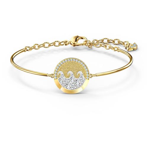 Bransoletka Swarovski - Shine Wave Bangle, Gold 5524191