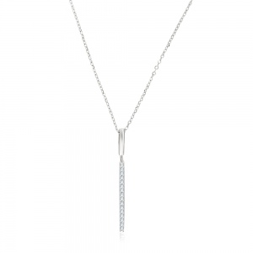 Srebrny naszyjnik celebrytka z cyrkonia - Pręcik pr.925