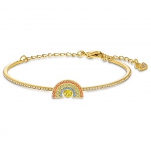 Bransoletka Swarovski - Sparkling Dance Cat, Bangle, Gold 5537493