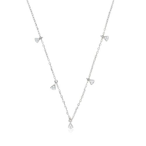 Srebrny naszyjnik celebrytka z cyrkoniami - Trójkąty pr.925