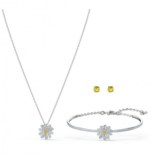 Zestaw Swarovski - Eternal Flower Set, Silver 5518146