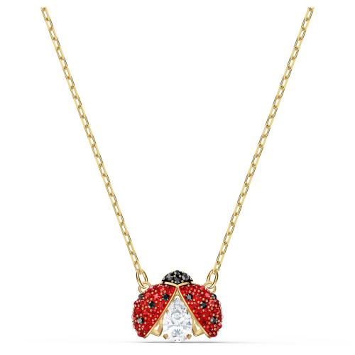 Naszyjnik Swarovski - Sparkling Dance Ladybug, Gold 5521787
