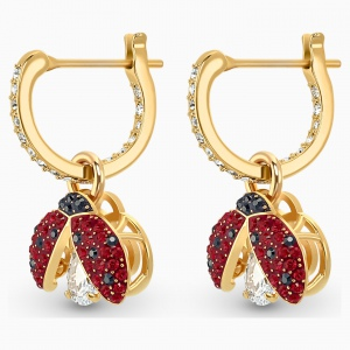 Kolczyki Swarovski - Sparkling Dance Ladybug, Gold 5537490
