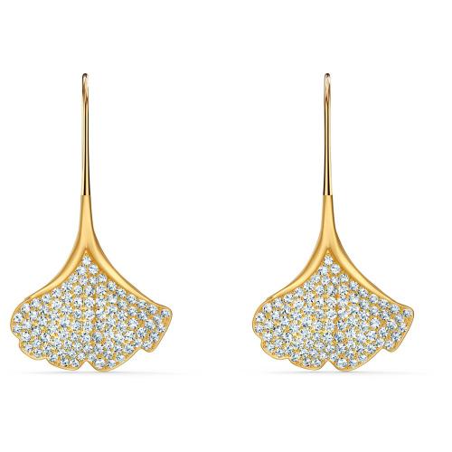 Kolczyki Swarovski - Stunning Ginko, Gold 5518176