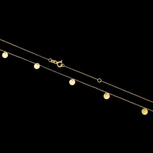 Złoty naszyjnik celebrytka - Monety pr.333