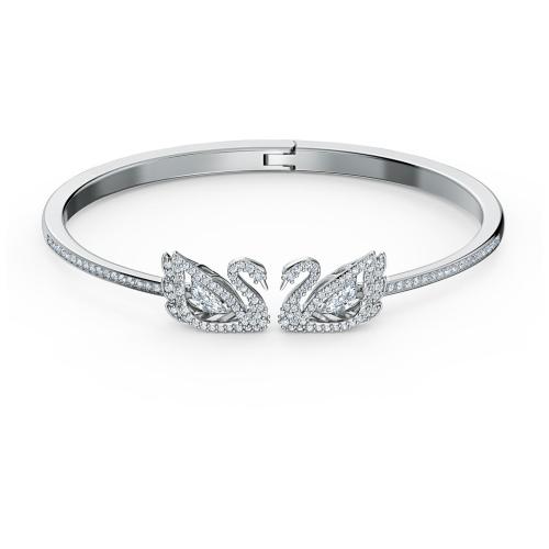 Bransoletka Swarovski - Dancing Swan Bangle, Silver 5520713