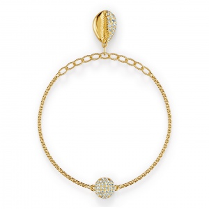 Bransoletka Swarovski - Remix Collection Shell Strand, Gold 5521347