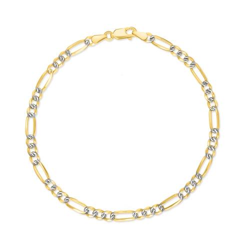 Złota bransoletka - Figaro 19cm pr.585