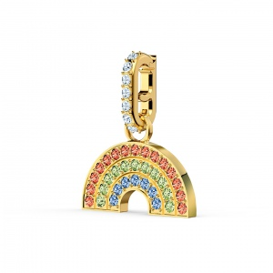 Zawieszka Swarovski - Remix Collection Rainbow Charm, Gold 5527005