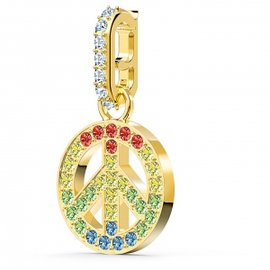 Zawieszka Swarovski - Remix Collection Peace Charm, Gold 5526998