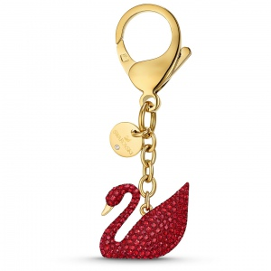 Brelok Swarovski - Swan Bag Charm, Red, Gold-Tone Plated 5526754