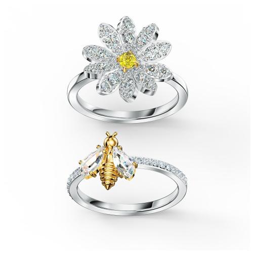 Zestaw pierścionków Swarovski - Eternal Flower, Silver