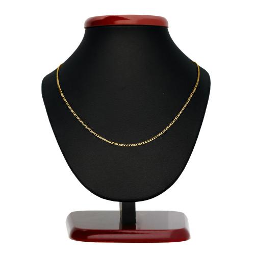 Złoty łańcuszek - Zdobiona Pancerka 45cm pr. 585