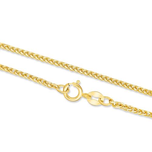 Złoty Łańcuszek Lisi Ogon 42cm pr. 585
