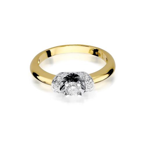Pierścionek zaręczynowy z brylantami 0,33ct pr.585