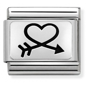 Nomination - Link 925 Silver 'Closed Heart & Arrow' 330109/40