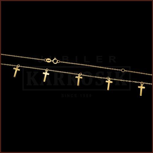 Złoty Naszyjnik Celebrytka - Krzyżyki pr.333