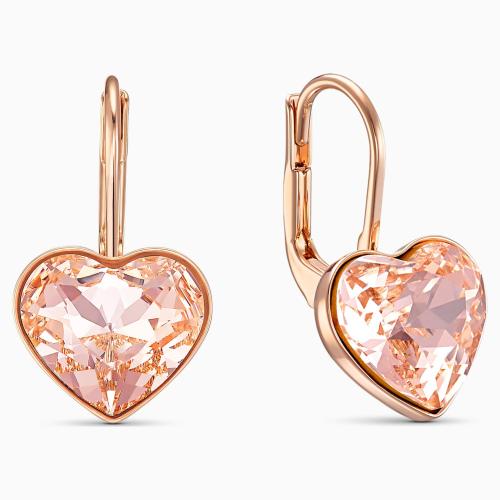 Kolczyki Swarovski - Bella Heart, Rose Gold 5515192