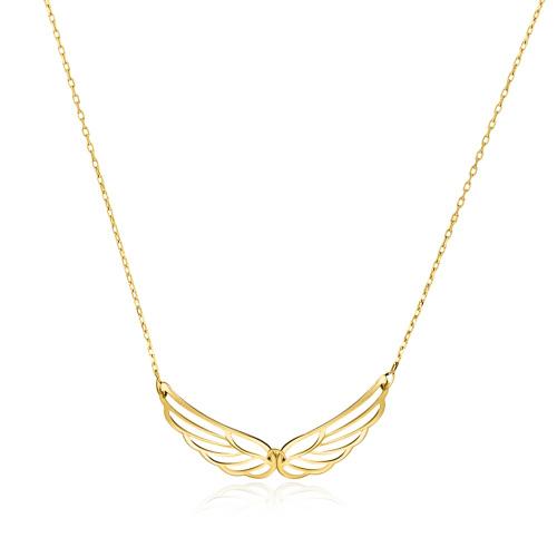 Złoty naszyjnik celebrytka - Skrzydła pr.585