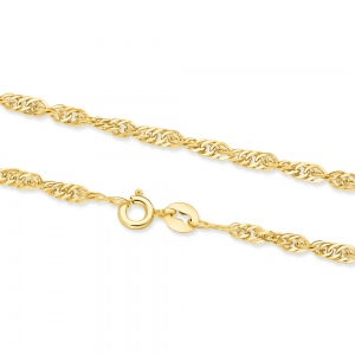 Złoty Łańcuszek Singapur 40cm pr. 333