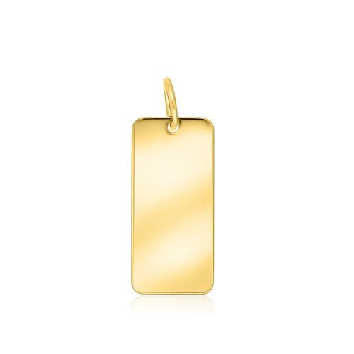 Złota zawieszka - Prostokąt pr.585