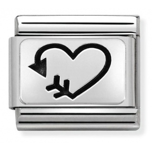 Nomination - Link 925 Silver 'Heart Arrow' 330109/38