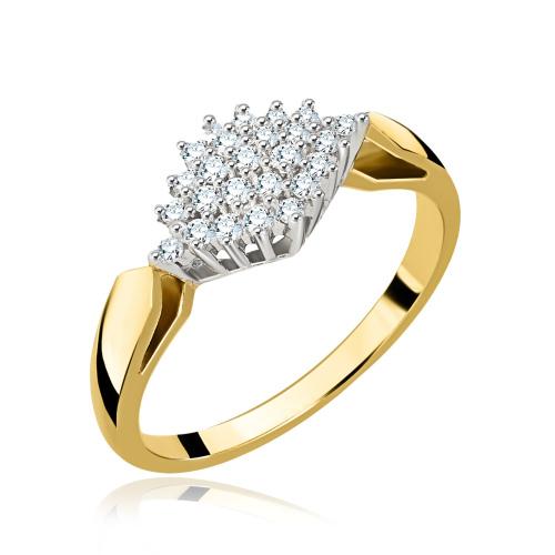 Pierścionek zaręczynowy z diamentami 0,23ct pr.585