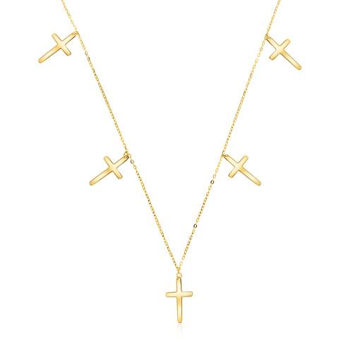 Złoty naszyjnik celebrytka - Krzyżyki pr.585