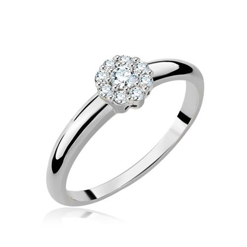 Pierścionek zaręczynowy z diamentami 0,21ct pr.585