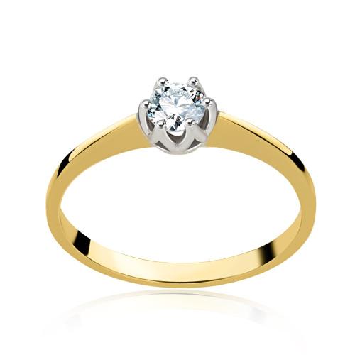 Pierścionek zaręczynowy z diamentami 0,30ct pr.585