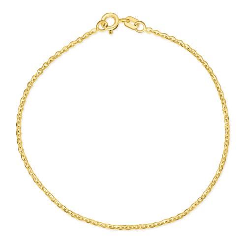 Złota Bransoletka Ankier 18cm pr.585
