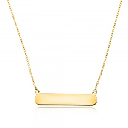 Złoty naszyjnik - Blaszka pr.585