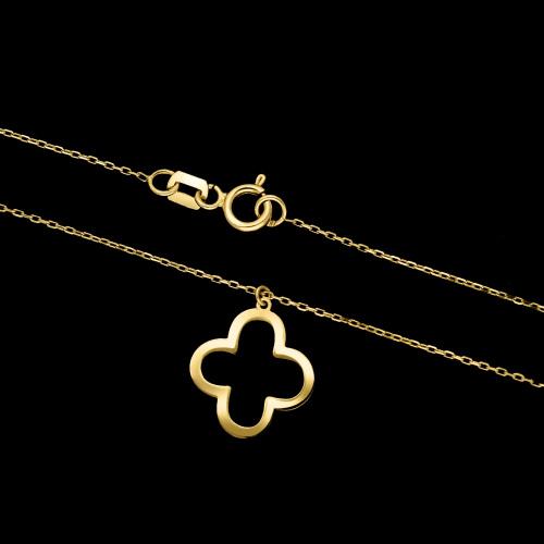 Złoty naszyjnik celebrytka - Kwiat pr.585