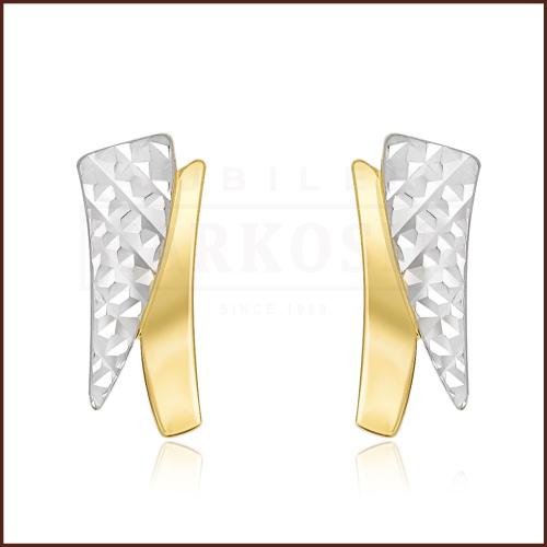 Złote kolczyki - Diamentowane pr.585