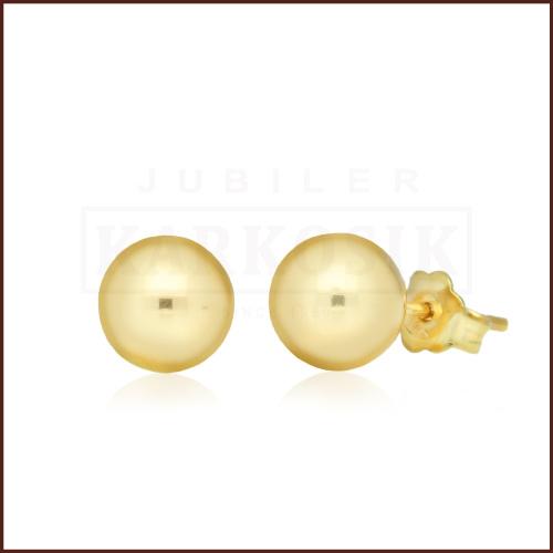 Złote kolczyki - Kulki 3mm pr.585