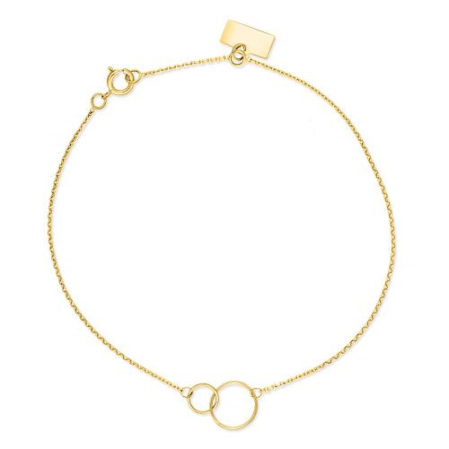 Złota bransoletka celebrytka - Splecione Koła pr.585