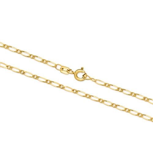 Złoty łańcuszek - Figaro 45cm pr.333