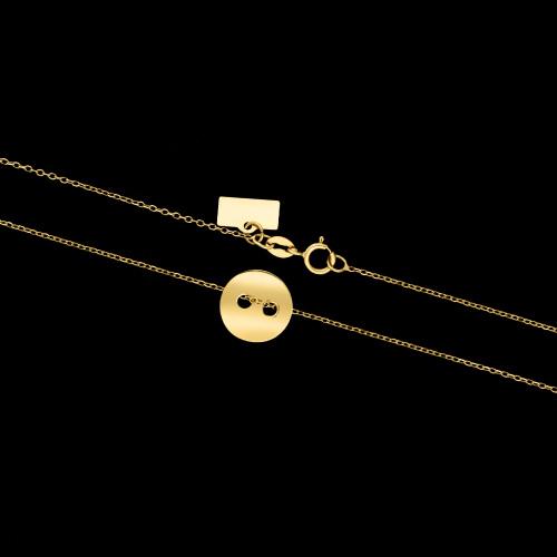 Złoty naszyjnik celebrytka - Guzik pr.585