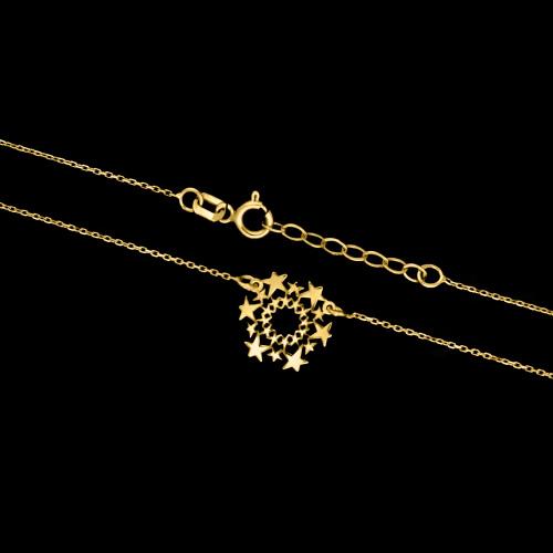 Złoty naszyjnik - Gwiazdki pr.585