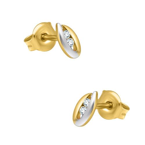 Złote kolczyki z cyrkoniami - Krople pr.585