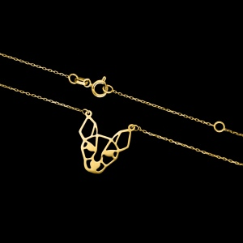 Złoty naszyjnik celebrytka - Origami Sfinks pr.333
