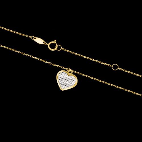 Złoty naszyjnik celebrytka - Błyszczące Serce pr.333