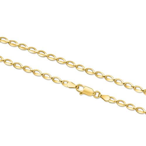 Złoty naszyjnik - Pistacje 42cm pr.585