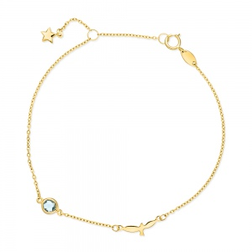 Złota bransoletka celebrytka - Ptak pr.585