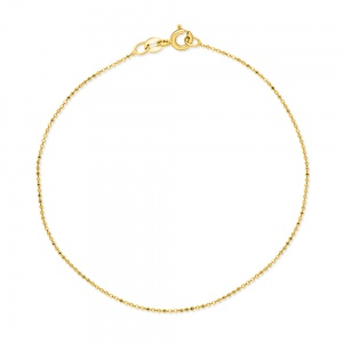 Złota bransoletka - Kulki 19cm pr.585