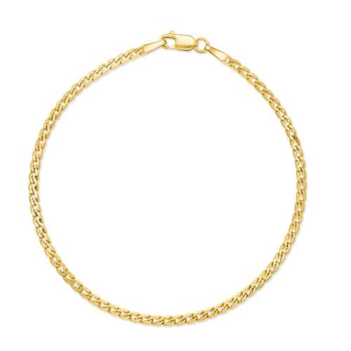 Złota bransoletka - Pancerka 19cm pr.585