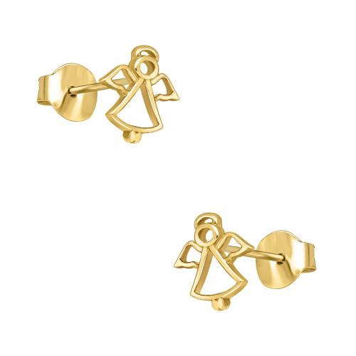 Złote kolczyki - Aniołki pr.585