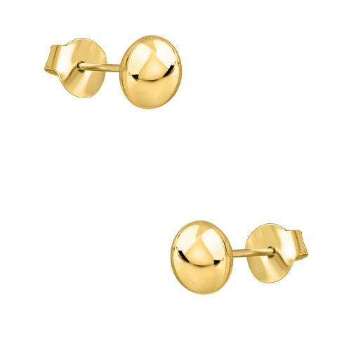 Złote kolczyki - Półkule pr.585